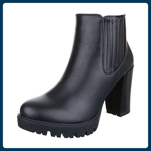 Stiefeletten Damen Design Ital Schuhe Klassische fg7ymv6IYb