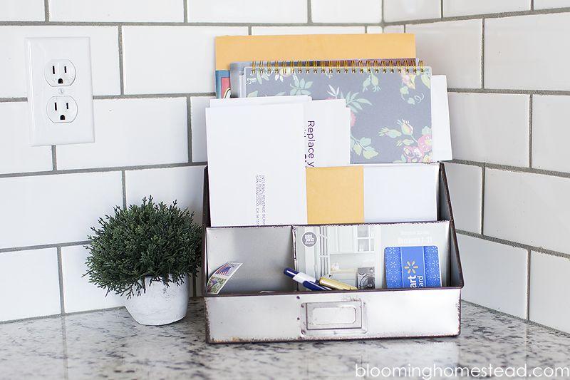 Galvanized Mail Organizer Kitchen Countertop Organization Countertop Organization Kitchen Counter Organization