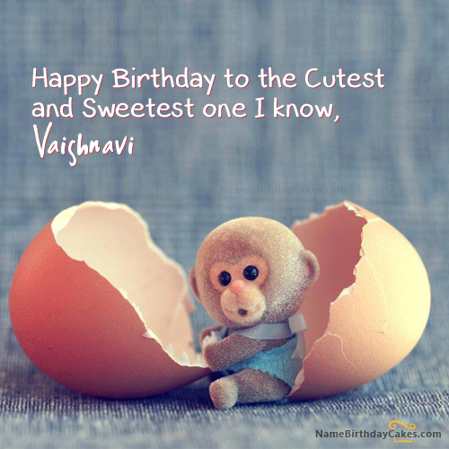 I Have Written Vaishnavi Name On Cakes And Wishes On This Birthday