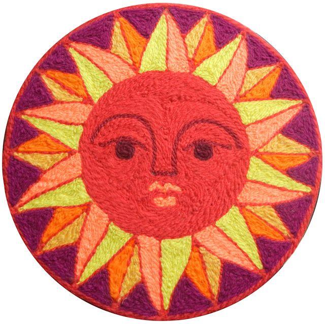 Yarn art sun