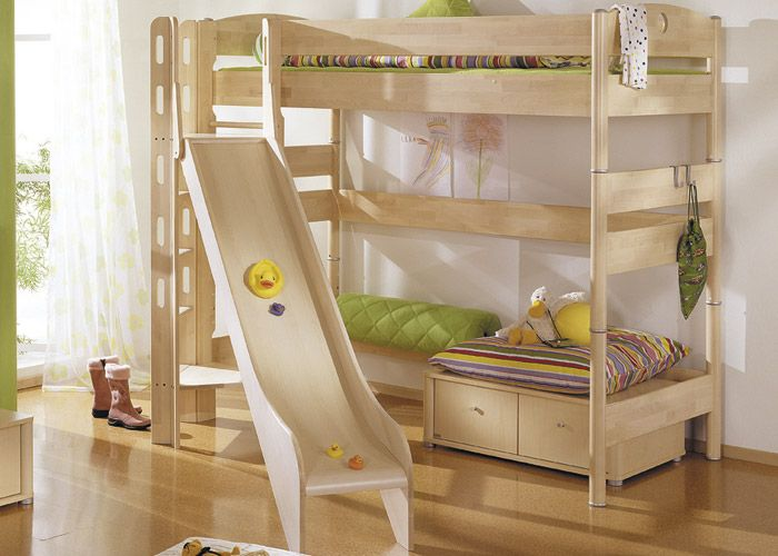 High bed Fleximo (height: 183 cm) with slide