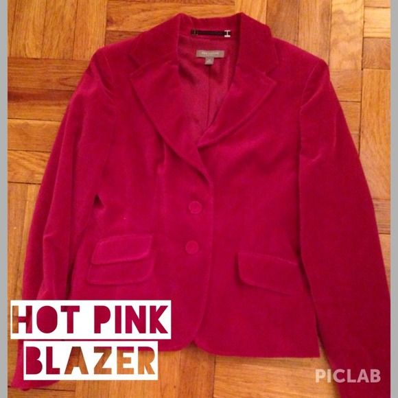 Hot Pink Ann Taylor Blazer Beautiful Blazer... Definite statement piece ⭐️ Ann Taylor Jackets & Coats Blazers