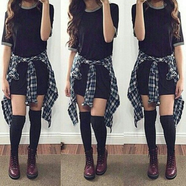 Flannel Outfits Tumblr