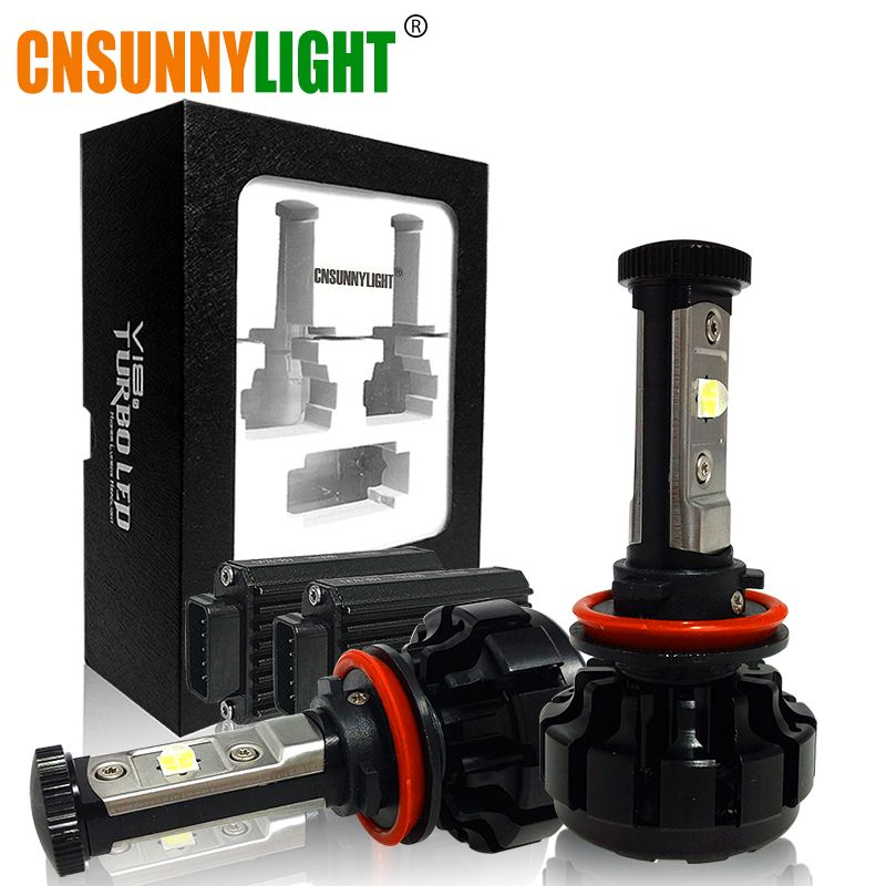 CNSUNNYLIGHT 10000LM Super Helle Auto LED Scheinwerfer Kit H7 H11/H8 ...