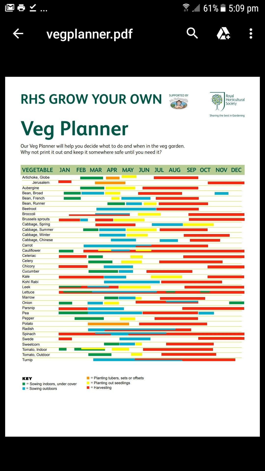 Rhs Vegetable Growing Planner Uk With Images Growing