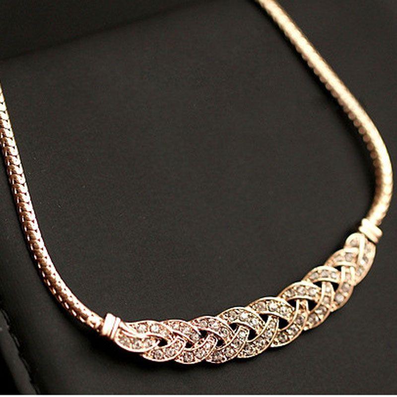 Acrilico di alta qualità romantico choker della collana della catena nuovo disegno a spirale dei monili di costume accessori di moda femminili collier femme