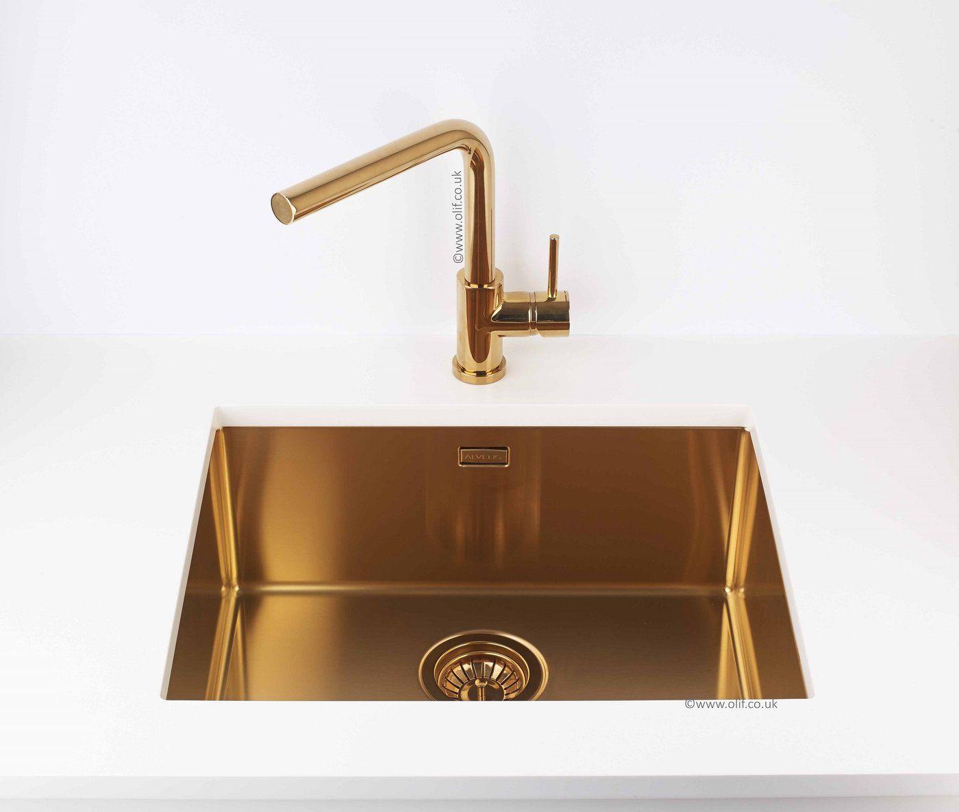 bronze flush slim undermount sink