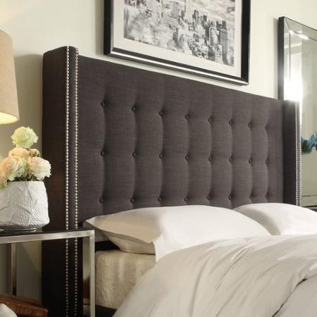 Curtis I Dark Grey Linen Headboard, Multiple Sizes   Master bedroom ...