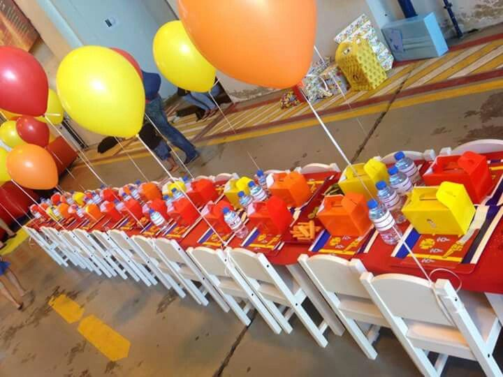 Fire themed party at Al Manara fire station in dubai - all