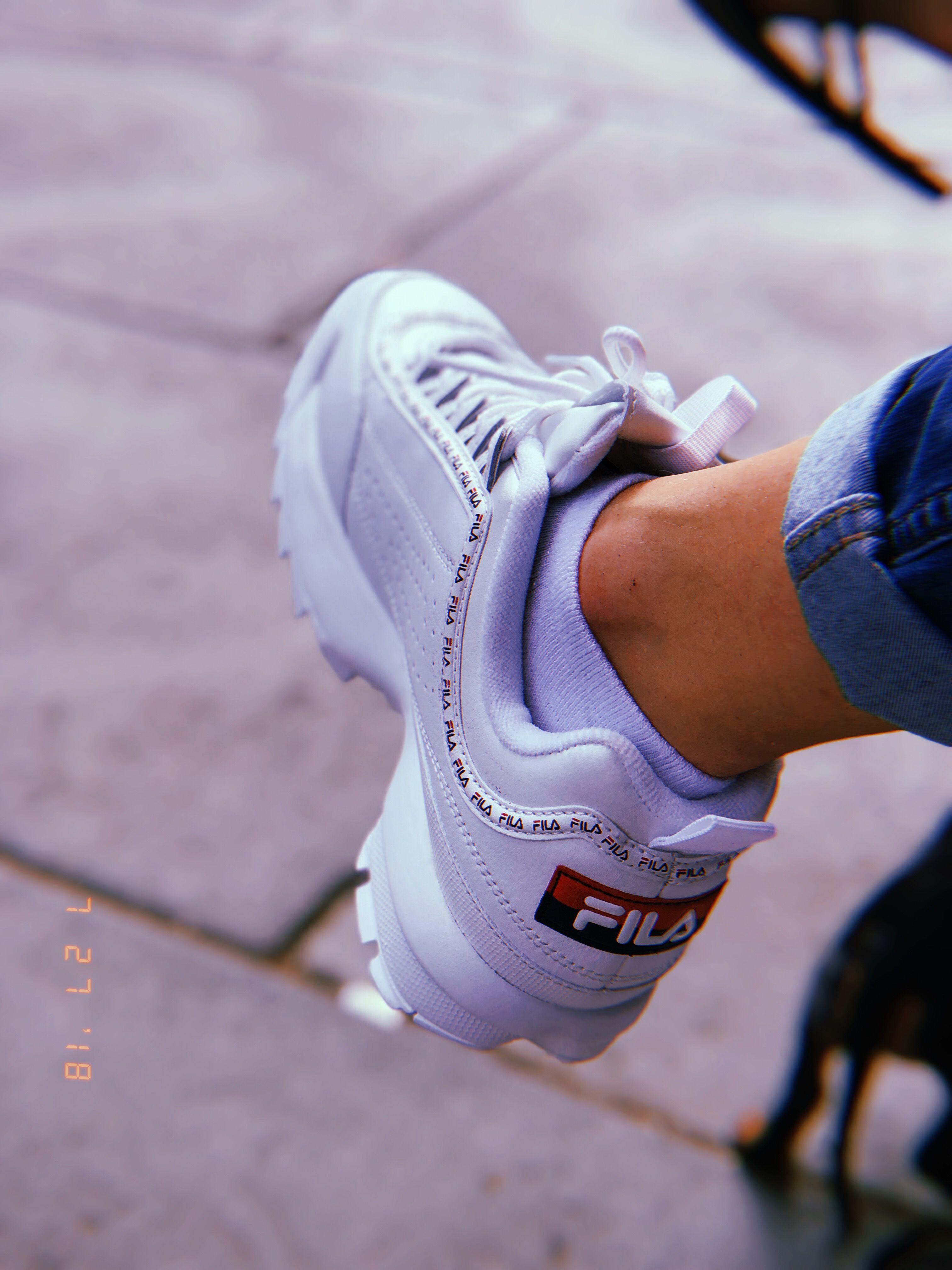 Fila Disruptor II Premium Repeat white | Kicks // in 2019 | Trendy ...
