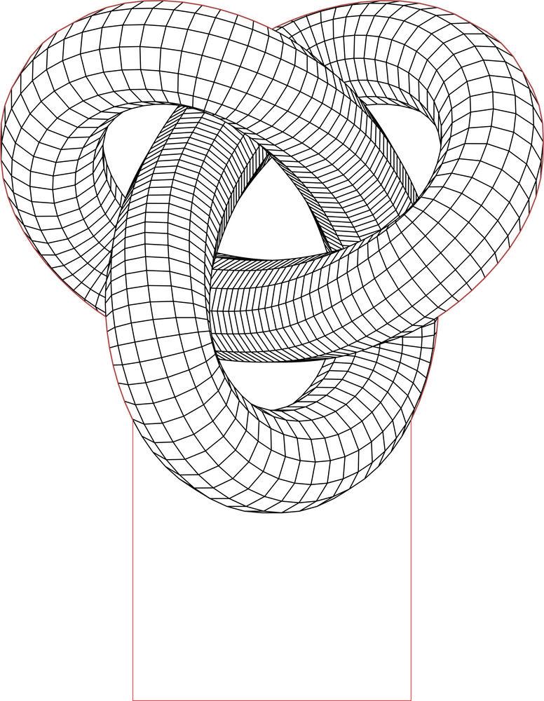 Torus Knot 3d Illusion Led Light Vector File 1 Illusions 3d Illusion Lamp Geometric Drawing