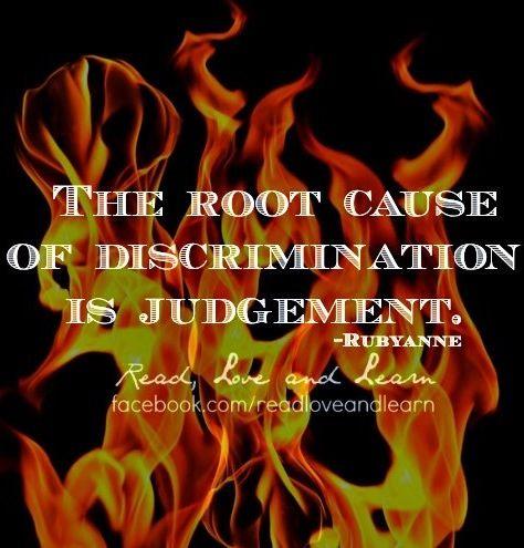Don't judge or discriminate quote via www Facebook com