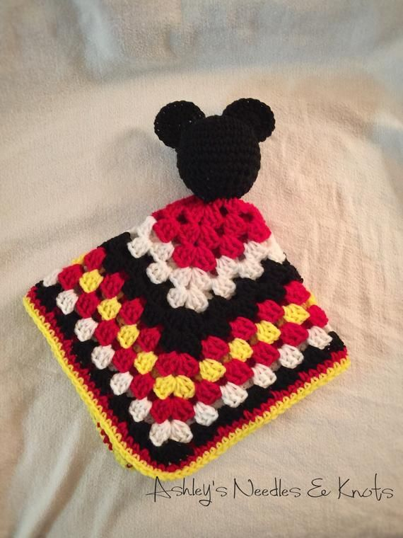 Mouse crochet security blanket #crochetsecurityblanket