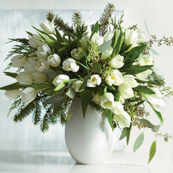 A collection of fresh floral arrangements that are perfect for the holiday season.