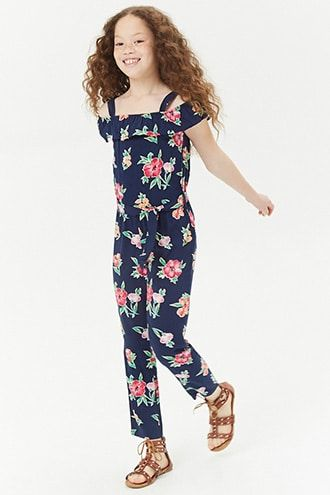 4daa7f235 Girls Floral Open-Shoulder Jumpsuit (Kids) | Products in 2019 ...