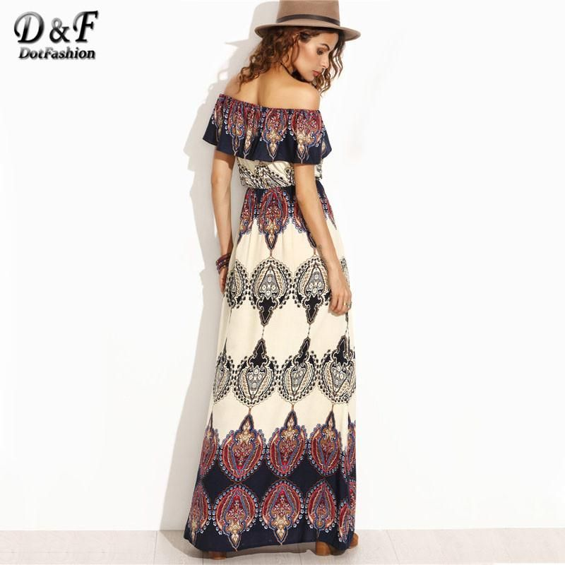 136b177c33f Gender  Women Neckline  Slash neck Silhouette  A-Line Sleeve Length(cm)   Short Style  Casual Brand Name  Dotfashion Season  Autumn Material  Rayon  Dresses ...