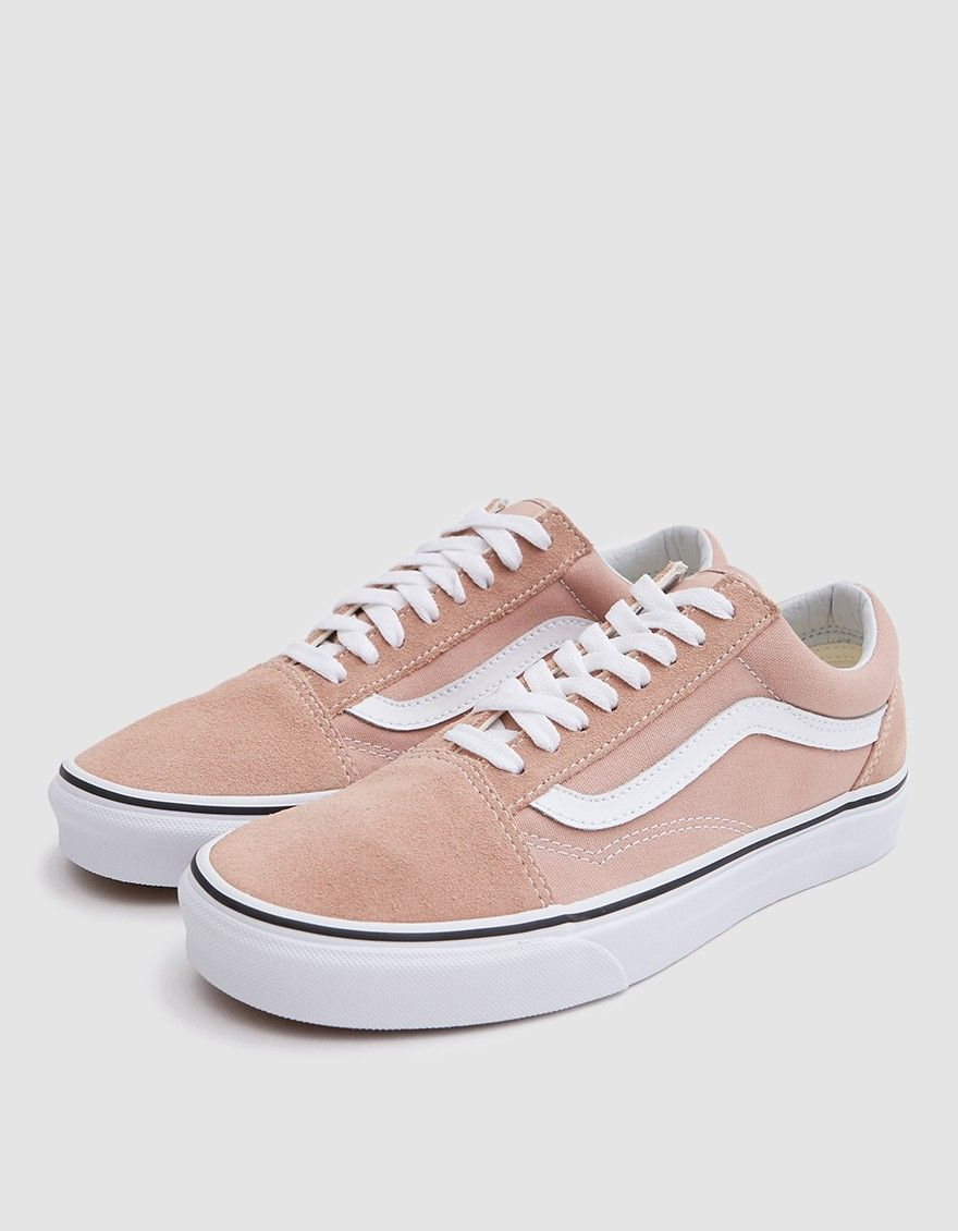 d065a6331a52 Old Skool from Vans in Mahogany Rose. Suede and canvas upper. Lace-up front  with flat woven laces. Lightly padded collar. Iconic side stripe at lateral  and ...