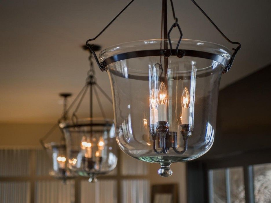 Lighting. Warm Welcome Foyer Lighting Ideas. Clear Glass Globe ...