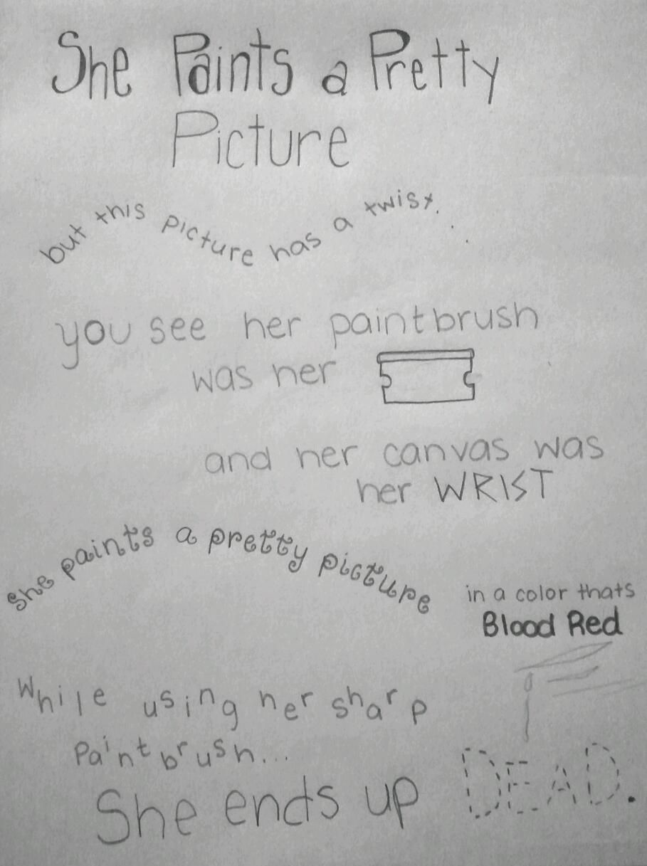 Emo quotes about cutting tumblr emo quote cutting sad arm - Wise Words