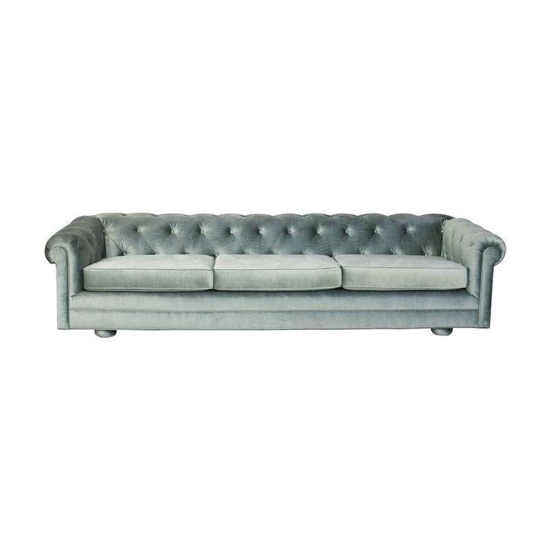 Beautiful Mid Century Vintage Reupholstered Velvet Chesterfield Sofa By  Onemanstrashlasvegas On Etsy