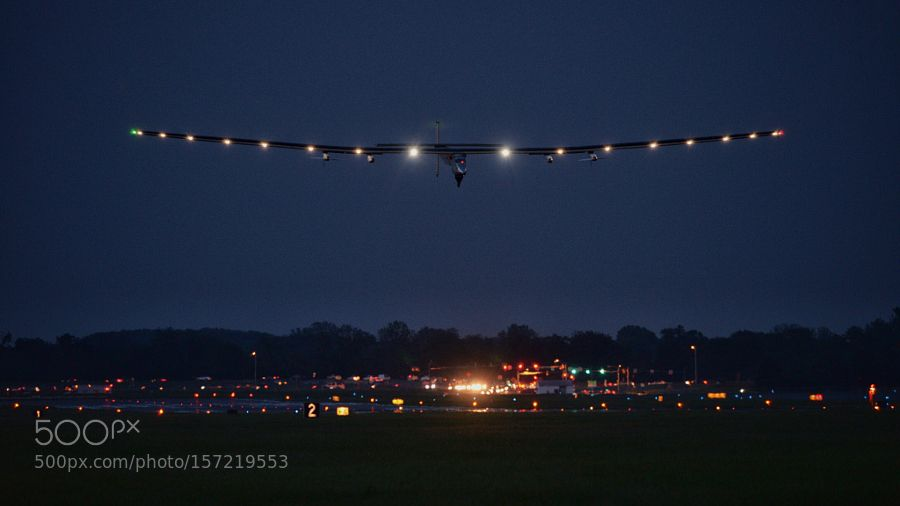 Solar Impulse 2 Arriving in Lehigh Valley by EricAdams321