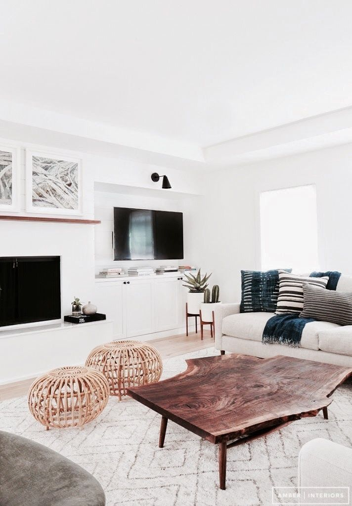 White Modern Cozy Chic Living Room With Images White Home
