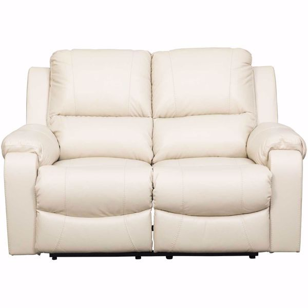 Pleasing Rackingburg Cream Leather Reclining Loveseat Machost Co Dining Chair Design Ideas Machostcouk