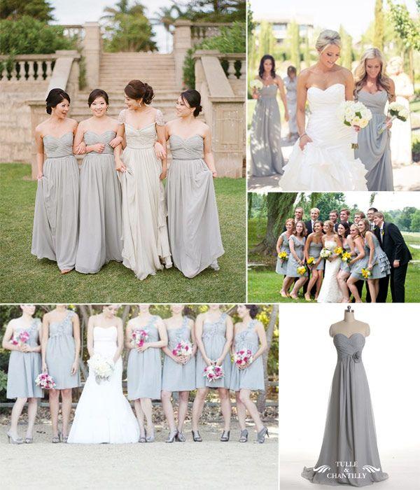 We Love Grey Bridesmaid Dresses In 2014