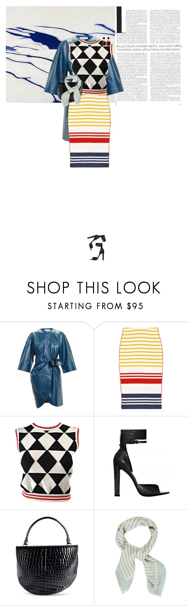 """Untitled #1121"" by elifuks ❤ liked on Polyvore featuring Radcliffe, J.W. Anderson, By Malene Birger, Versace, Alexander Wang, Simone Rocha, Burberry and Marni"
