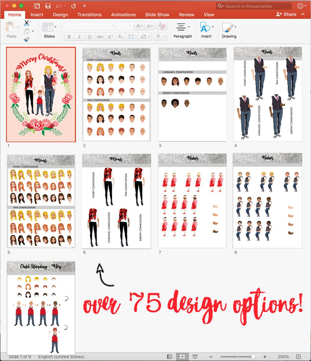 Design your own Christmas cards in PowerPoint. Christmas Crafts ...
