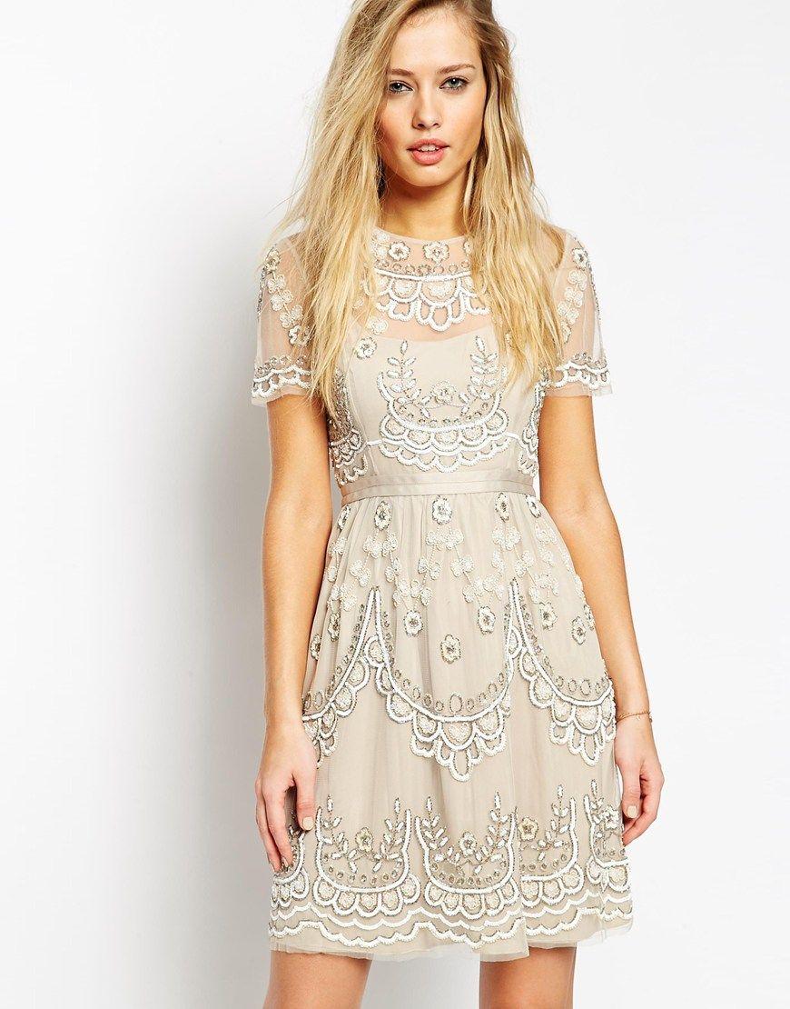 Needle u thread embellished tiered petal dress fashion pinterest