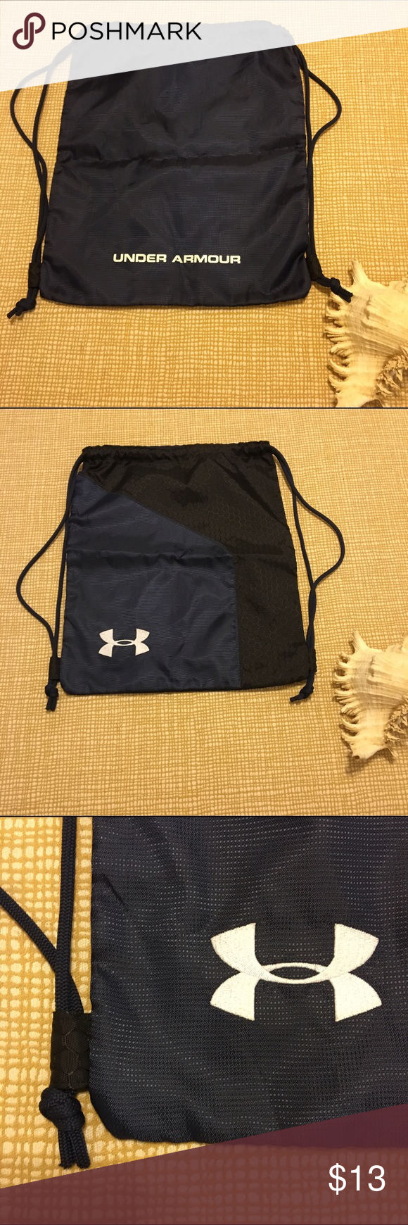 Under Armour drawstring navy blue bag. Under Armour drawstring navy blue bag.  Previously used. Under Armour Bags Backpacks c07941f7e7