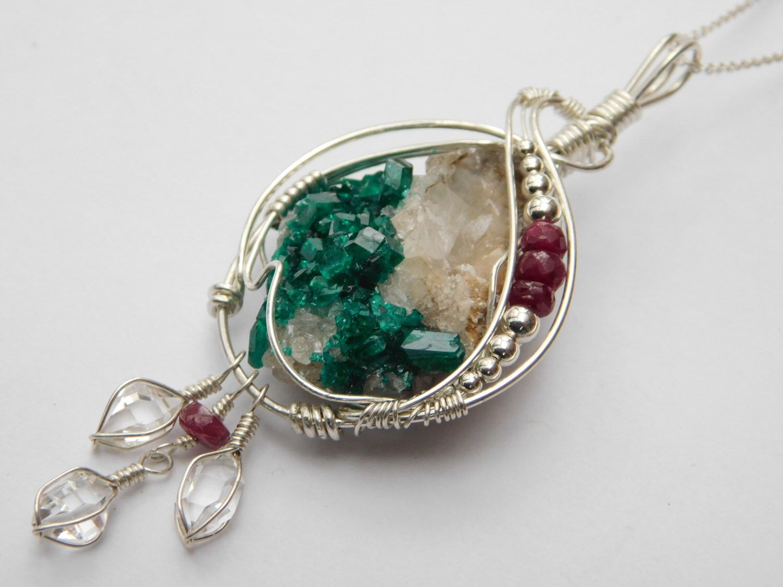 Natural dioptase pendant herkimer diamond jewelry quartz crystal natural dioptase pendant herkimer diamond jewelry quartz crystal jewelry dioptase metaphysical jewelry aloadofball Gallery