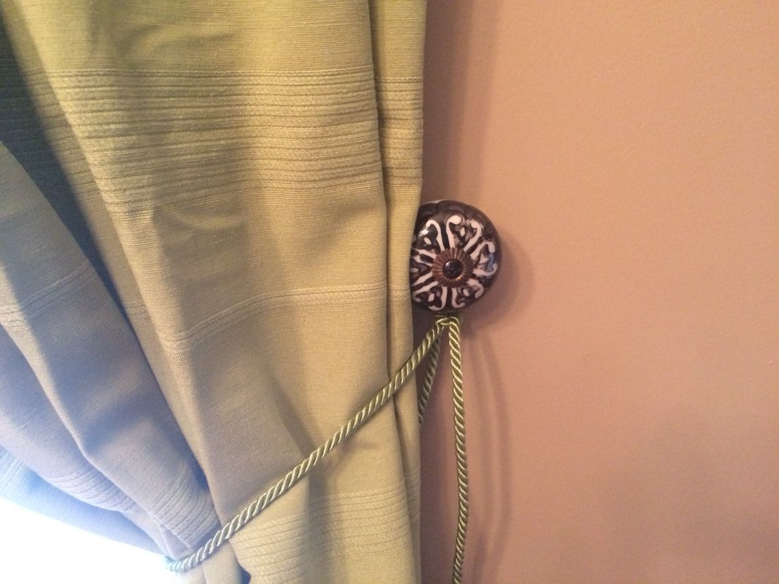 Hobby Lobby Door Handle Turned Into Curtain Tie Back Curtain Tie