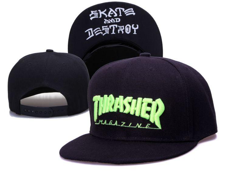 #Thrasher Snapback#Hats Caps Black 005! Only $8.90USD