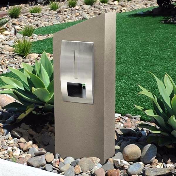 Monaco Grc Concrete Pillar Letterbox 304 Stainless Front Letter Box Front Garden Ideas Driveway Fire Pits For Sale