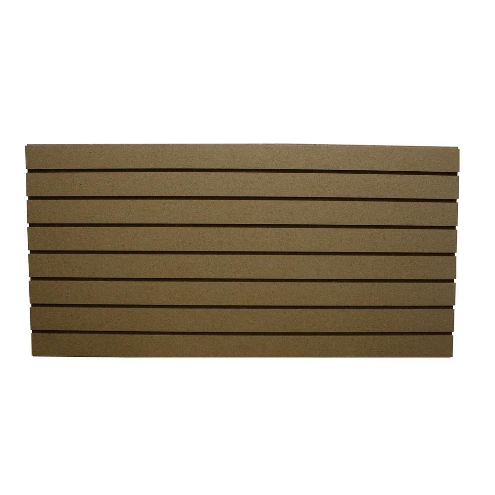 Garageescape 2 Ft X 4 Ft Paintable Slatwall Easy Panel 2 Piece