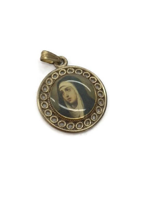 Patron Saint Medal St Bernadette Medal Pendant Catholic Patron Saint