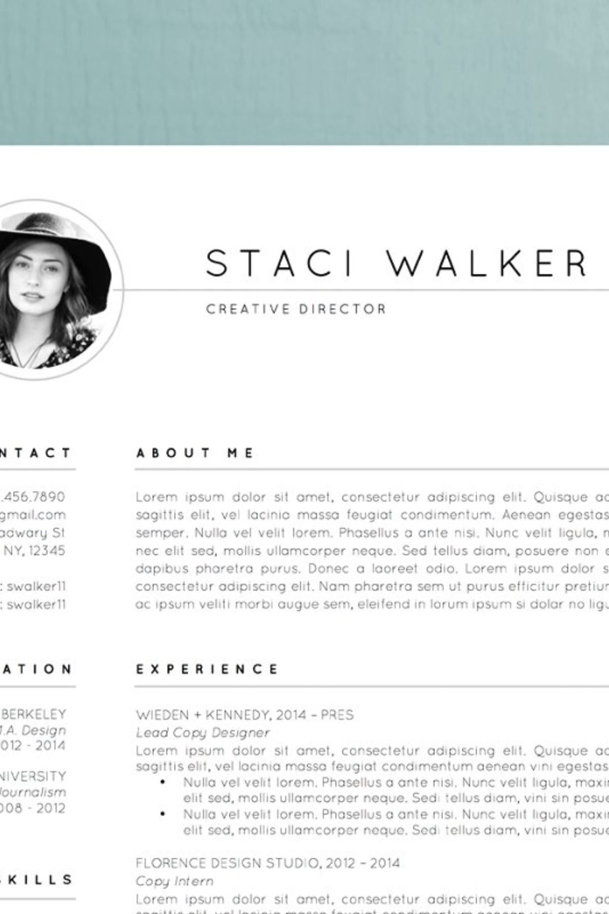 Resume Template / CV + Cover Letter Creative resume