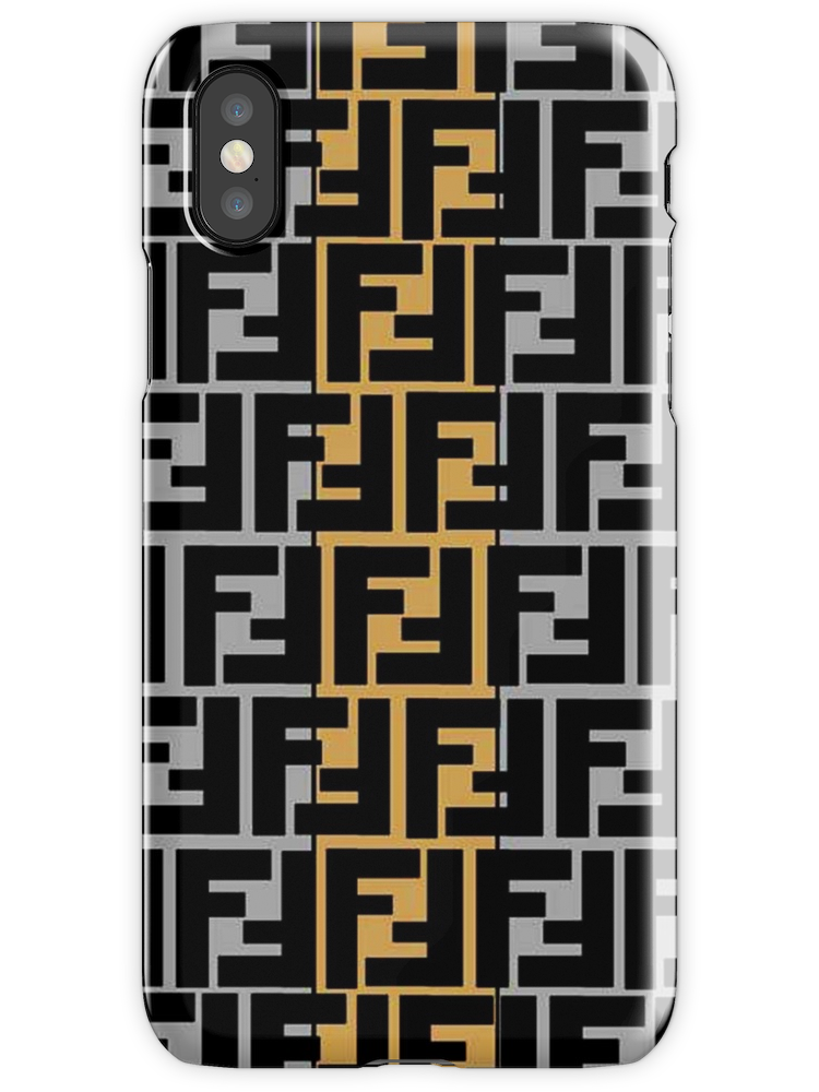 Fendi Collage Pattern Iphone X Snap Case Collage Iphone Case Pattern Iphone Pattern Iphone Case