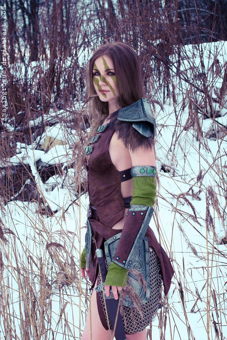 The Elder Scrolls V: Skyrim  Aela the Huntress Costume, model - me  Photographer - Misha  Finally I did it! Aela and Snow =3 More: