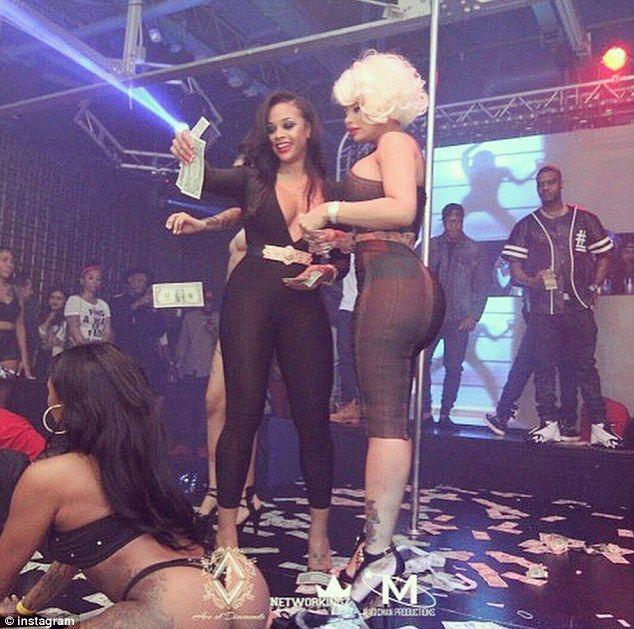 Black stripper at work — 8