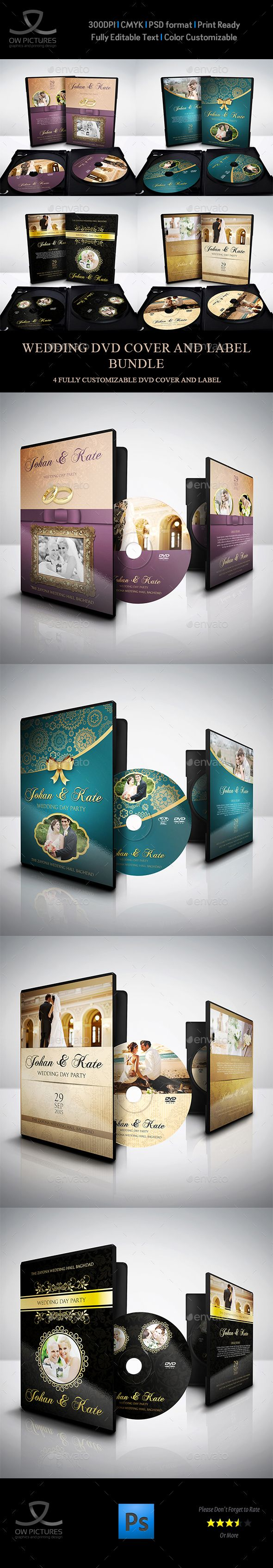 Wedding Dvd Cover And Label Template Bundle Vol  Label