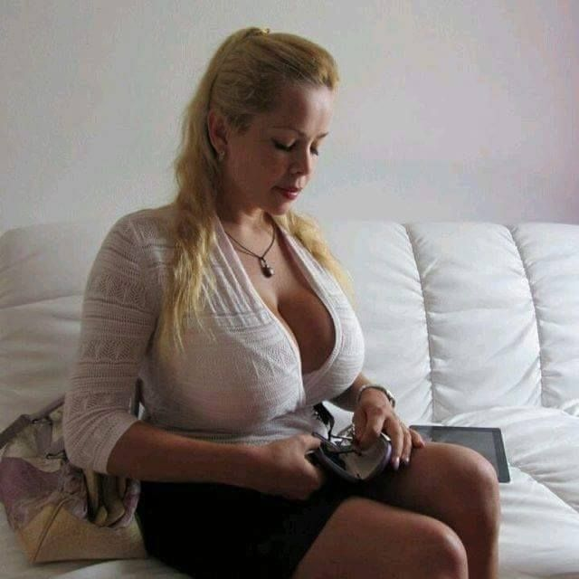 Milf working out Blonde