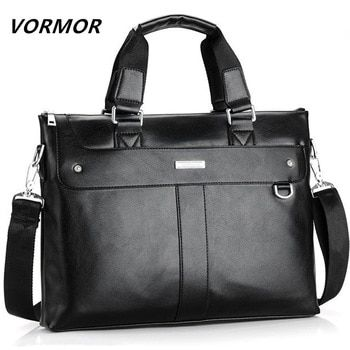 VORMOR 2020 Men Briefcase Business Shoulder Bag Leather Messenger Bags Computer Laptop Handbag Bag Mens Travel Bags
