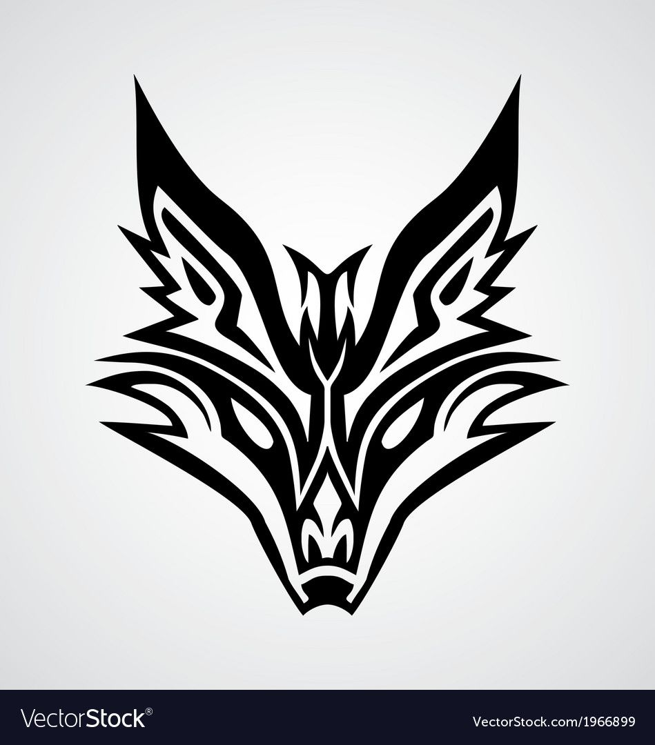 Tribal Fox Face For Tattoo Design Download A Free Preview Or High Quality Adobe Illustrator Ai Eps Pdf And High Reso Tribal Fox Fox Tattoo Design Fox Tattoo