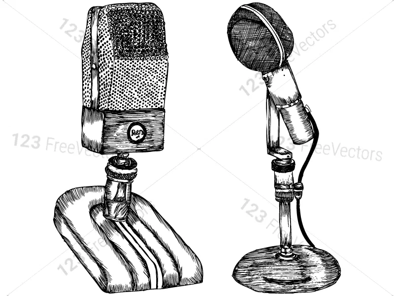 Hand Drawn Microphone Vector And Photoshop Brush Pack 01 How To Draw Hands Photoshop Brushes Photoshop