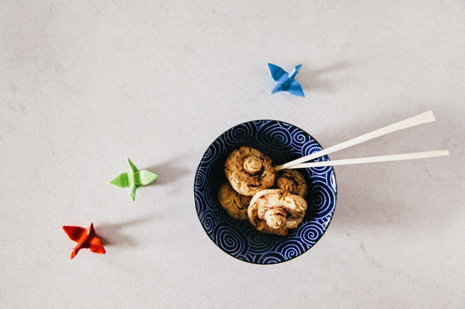 Sushi and Mushroom Salad... for Dessert!!! #dessertsushi