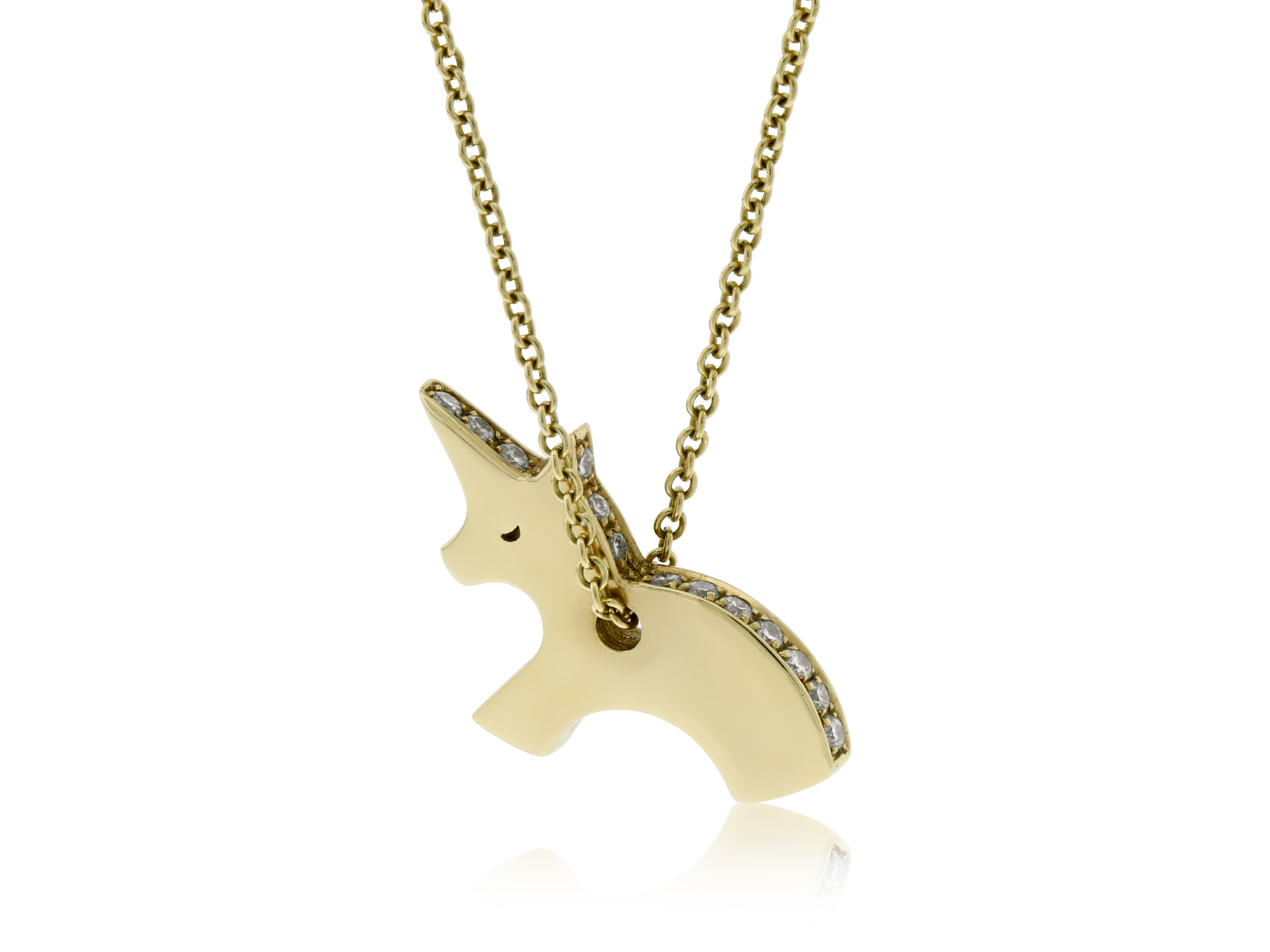 Unicorn Necklace The Solid Gold And Diamond Unicorn Necklace If