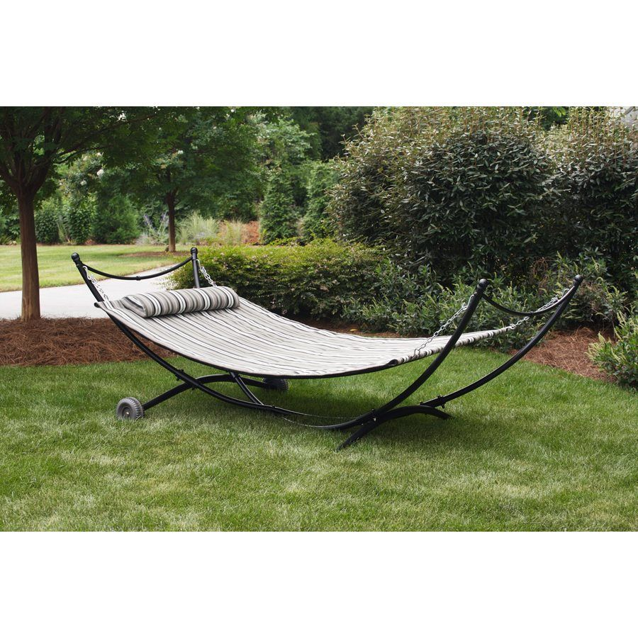 Garden Treasures 9 Ft 5 In Padded Sling Hammock With Stand | Loweu0027s Canada
